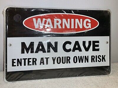 PP3596 WARNING ENTERING BRENDAN/'S MAN CAVE Chic Sign Home Decor Funny Gift