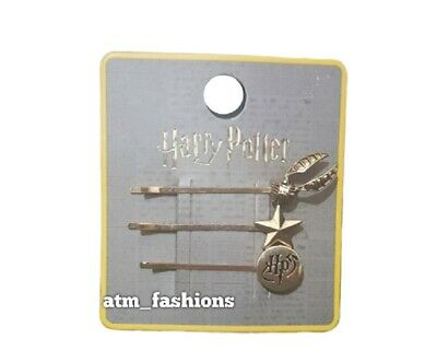 Primark Harry Potter 3 Pack Ladies Hair Pin All Different Design Christmas Gift