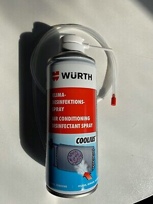 1x300ml WÜRTH AIR CONDITIONING DISINFECTANT SPRAY AIR CON CLEANER A/C INC PIPE