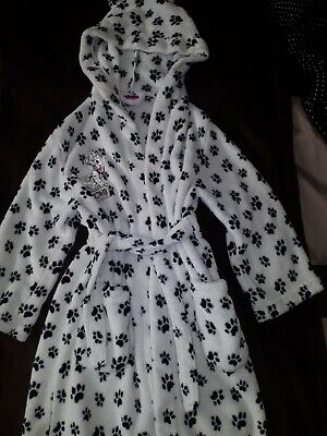 Girls Disney Dalmatians Dressing Gown Size 6-7 years