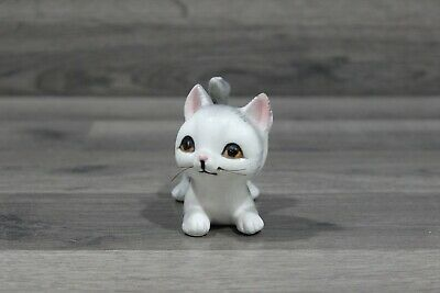 Vintage Grey Striped Kitten Cat Figurine with Whiskers Made in Japan Mid Century