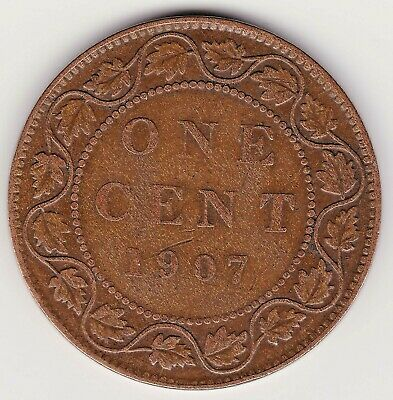 1907 Canada Large 1 cent coin - 113 year old