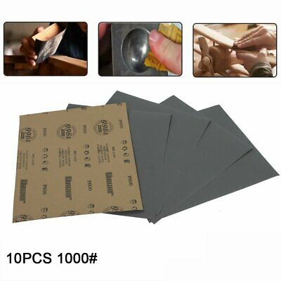 """Grits1000 9x11"""" x10 SANDING SHEETS Wet/Dry Silicon Carbide Waterproof Sandpaper"""