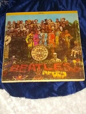"""The Beatles – Sgt. Pepper's Lonely Hearts Club Band 12"""" Vinyl LP XEX 637-1"""