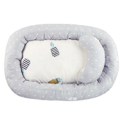 Portable Baby Nest Bed Crib Removable Washable Protect Cushion with Pillow TN2F