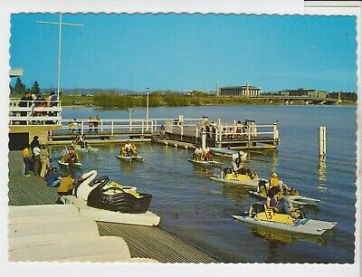 Dobel Boat Hire Action Jetty Canberra Act Capital View Postcard