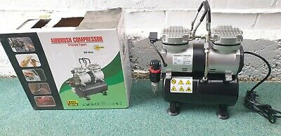 Airbrush Compressor AS196 - Piston Type - Oil-Less (Barely used)