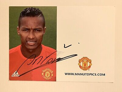 Antonio Valencia (Manchester United) Hand Signed Clubcard
