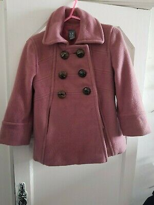 zara coat age 3 to 4 years dusty pink used item