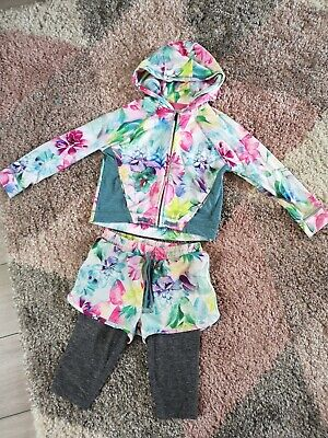 Next Girls Sportswear Jacket And Leggings In Shorts Age 7 Years Floral