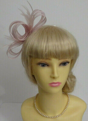Nude pink fascinator for wedding/mother of the bride/bridesmaid/races