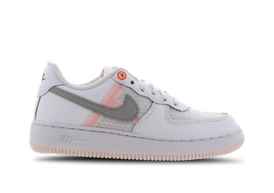Girls Nike Air Force 1 LV8 Trainers White/Grey/Off Noir CJ7159 100 UK 13.5