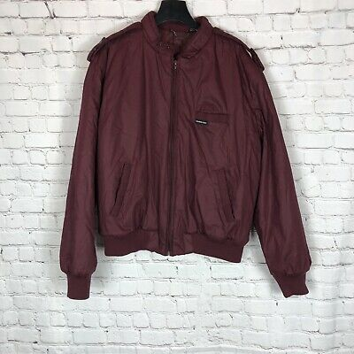 Vintage MEMBERS ONLY Maroon Dark Red Burgundy Insulated Coat Jacket Size 44