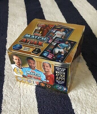 Brand New Topps Match Attax Season 2019/2020 COMPLETE BOX 50 PACK FOOTBALL CARDS