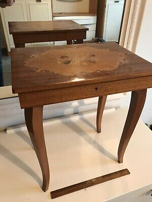 Sorrento Hand Made Musical Box Table With Key
