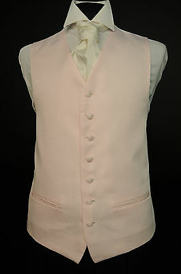 W468. Rhode Island Pink Waistcoat By Anthony - Wedding / Dress / Suit / Party