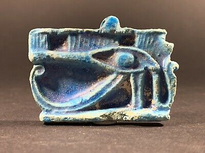 Highly Detailed Ancient Egyptian Eye Of Horus Amulet Pendant Circa 700-332Bce