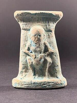 Rare Ancient Egyptian Bes Statuette God Of War, Sexuality, Home Circa 900-600Bce