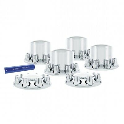 Axle Cover Combo Kit - 33mm Chrome ABS Plastic Axle Cover Front and Rear Kit
