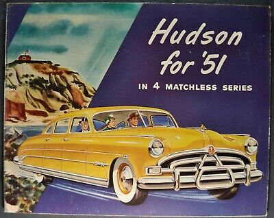 1951 Hudson Brochure Hornet Commodore Pacemaker Super 6 Excellent Original 51