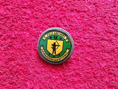 Vintage Archery Badge - Jolly Archers Of Houghton and Wyton