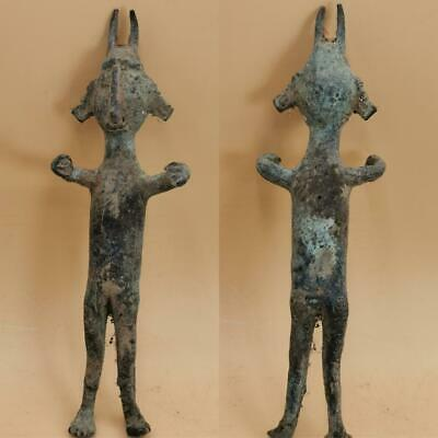 100 BC Ancient Backtrian Rare Bronze Unique Idol Statue 18 cm   # 113