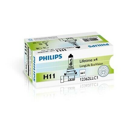 1 Glühlampe PHILIPS 12362LLECOC1 LongLife EcoVision MERCEDES-BENZ RENAULT TOYOTA