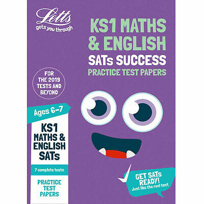 KS1 Maths And English Sats Practice Test Papers - Key Stage 1 FREE DELIVERY NEW