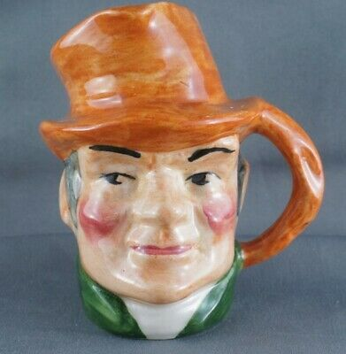 Vintage Hand Painted Staffordshire Artone Bill Sykes Toby Character Jug 3""