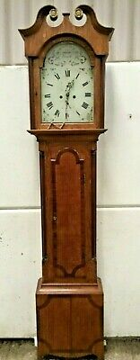 Antique Grandfather Clock 8 Day Scotland  Inverness  W Keith