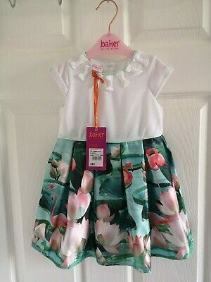 Ted Baker Girls Dress Age 12-18 Months New With Tags Flamingo Summer Holidays