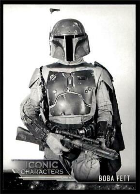 2020 Star Wars Jedi Black & White Iconic Characters #IC-9 Boba Fett