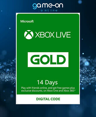 Microsoft Xbox Live Gold 14 Day Trial Global Digital Code