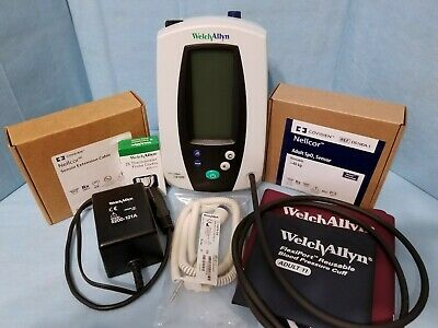 Welch Allyn 420 Spot Vital Signs Monitor NIBP Nellcor SpO2 Temp NEW Accessories