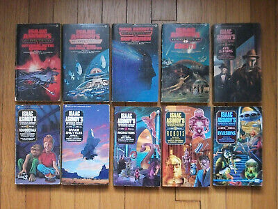 Isaac Asimov Lot of 10 Pbs Complete Wonderful Worlds of Science Fiction