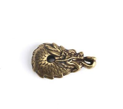 Chinese Collection old zodiac Asian antique collection pure brass dragon pendant