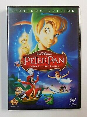 """BRAND NEW"" Walt Disney's Peter Pan 2-Disc Platinum Edition DVD FACTORY SEALED"