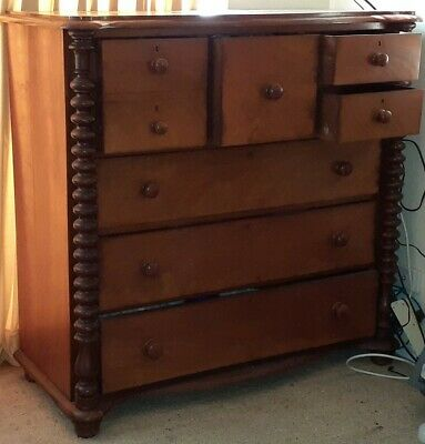 Antique Victorian Cedar chest of 7 drawers.