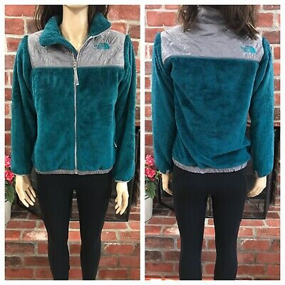 The North Face Green Gray Fleece Jacket Girls Size Large 14-16