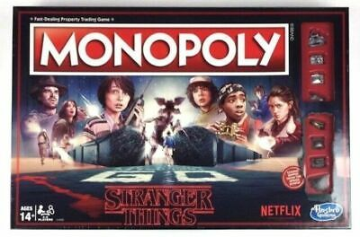 Monopoly: Stranger Things Edition Netflix 80s Board Game Hasbro New & Sealed