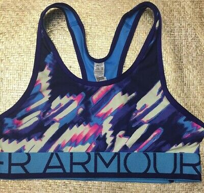 Under Armour Girls YMD Sports bra  Multicolor Blue Razorback/ Athletic Wear EUC