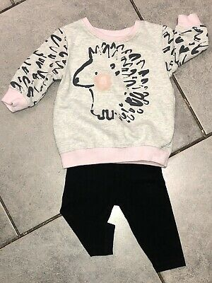 Next Baby Girls Outfit 3-6 Months VGC hedgehog
