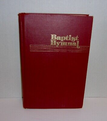 1975 Baptist Hymnal Hardcover Red Church Music Christian Songs Vintage #2