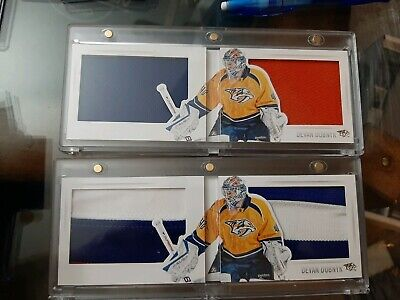 Devan Dubnyk 2013-14 Panini Playbook Split Decisions Jerseys and the /25 2 cards