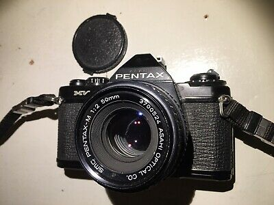 Pentax MV 35mm SLR Film Camera With Pentax M 50mm Lens Film Tested