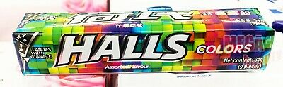 HALLS COLORS 34G. Candy mixed with vitamin C, sweet and sour taste, many flavors