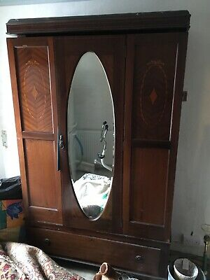antique wardrobe with mirror