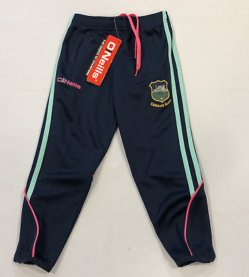 Oneills Tiobraid Arann Tracksuit Bottoms Navy/Pink Girls Size UK 5-6 Years*REF94