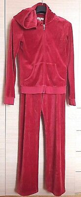 Juicy Couture Girls Red Glitter back Tracksuit - Size 14 Years