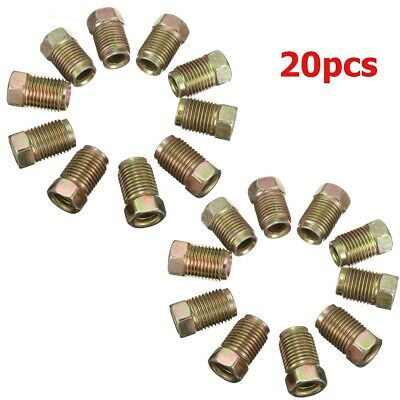 3 Way Female Brake Pipe Tube Connector With 3x Long Brake Nuts 10mm x 1mm Steel